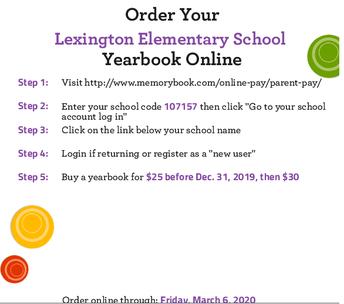 Order your Lexington Elementary School Yearbook Online