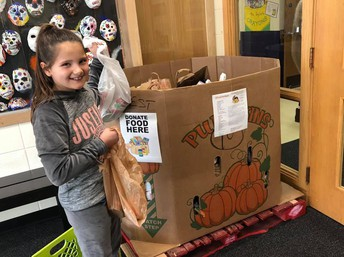 West Elementary School Food Drive