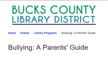 Bullying: A Parents' Guide