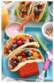 Rainbow Pancake Tacos