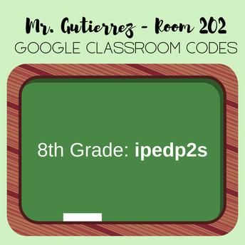 Mr. Gutierrez's Class Codes