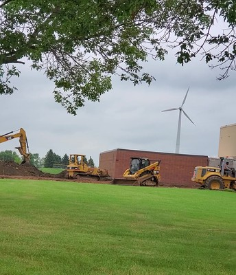 Digging at LQPV for new gym addition
