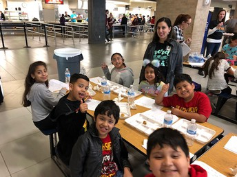 Mrs. Perez and Mrs. Crawford attended a cafeteria food tasting event at Klein Oak