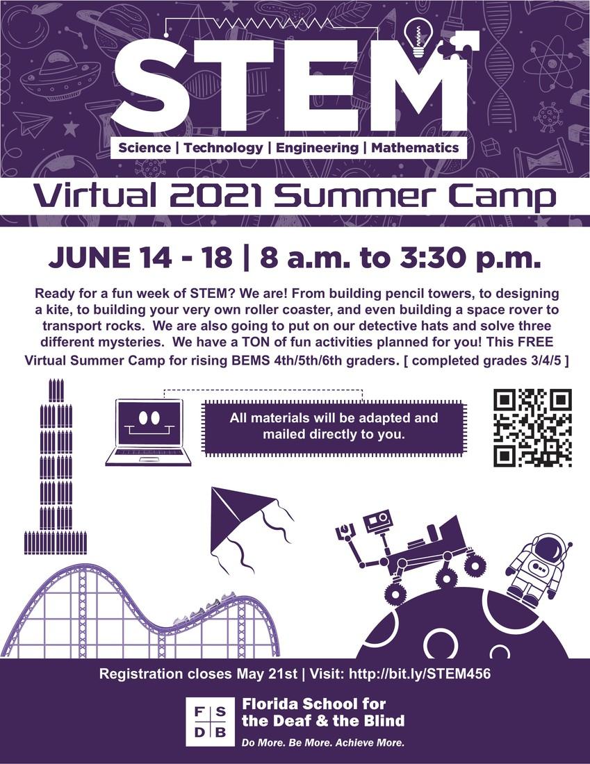 STEM camp flyer June 14-18