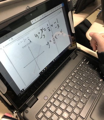 Using laptops in 7th and 8th