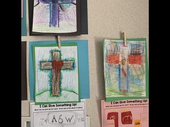 1/2F Lenten art and writing