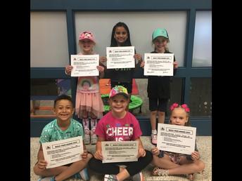 2nd Grade Bully Free Winners!