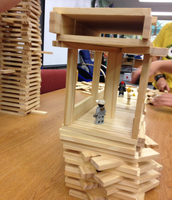 Creative designs using Keva Structures.