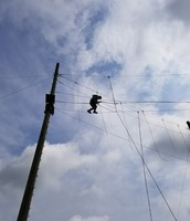 Taking a chance on the high ropes course