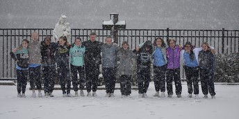 Things look like they got a little snowy for the 8th grade this week...