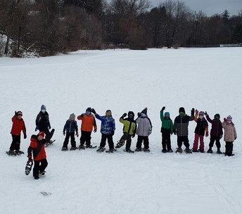 Snowshoe Pros at FHGS