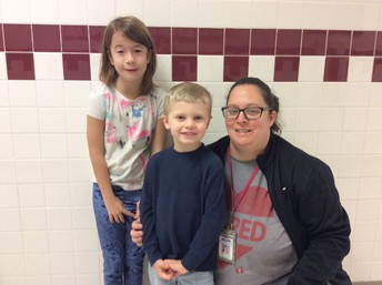 Picture of Dixie and Luke - top two Jump Rope for heart fundraisers
