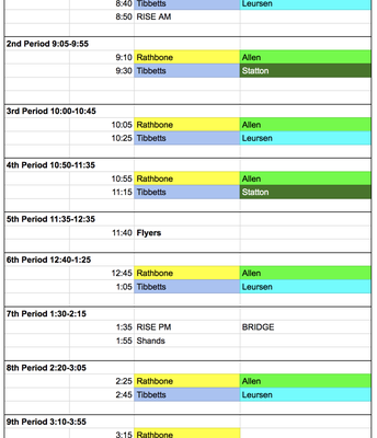 NGC Pic Schedule