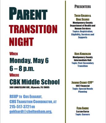 Parent Transition Night