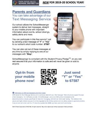 D64 Text Messaging Flyer