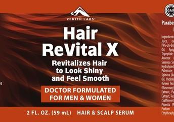 Hair ReVital X Topical Serum Spray Ingredients: