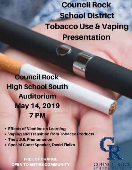 Council Rock School District Tobacco Use & Vaping Presentation