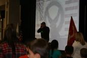 Mr. Matt Morris leading our students in the Ranger cadence