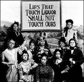 Women in support of the Temperance movement and the 18th Amendment