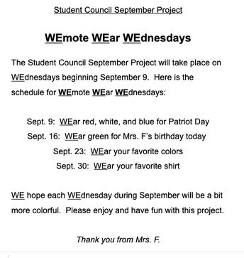 Student Council Update