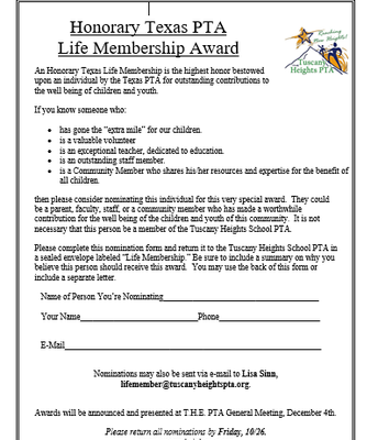Lifetime Membership Application