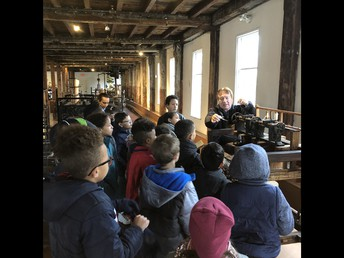 Stover's class learns about the Industrial Revolution.
