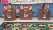 Our beautiful grade level Turkey Boxes!