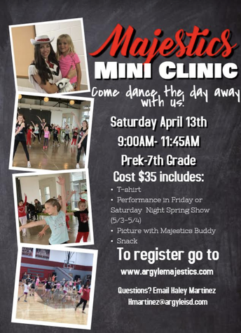 DON'T MISS THE MAJESTICS MINICLINIC ON APRIL 13TH