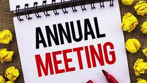 October 29th - Annual HOA Meeting