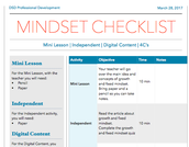Blended Learning Checklist Examples