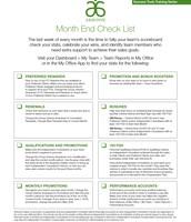 Month End Checklist