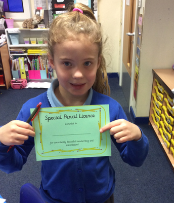 Y2 pen licence awards