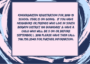 Kdg. Registration Going on Now