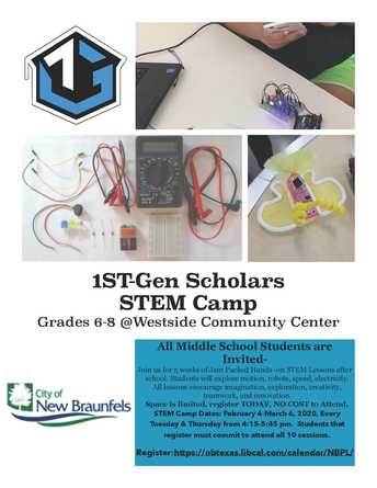 New Braunfels Public Library STEM Opportunity
