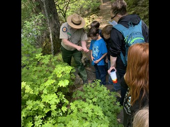 3rd graders learning from our wonderful park rangers