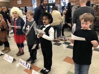 3rd grade presented an AMAZING wax museum!