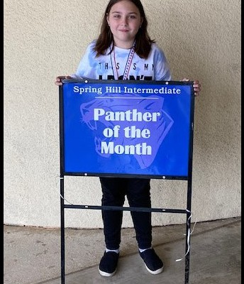 3rd grade Student of the Month and District Student of the Month
