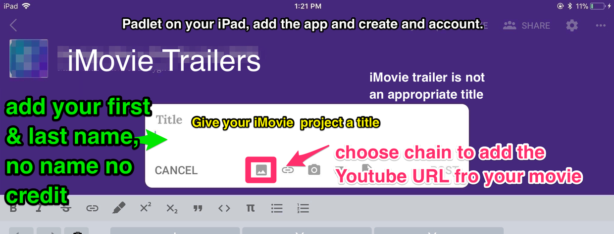 Week 4: iMovie TRAILERS