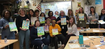 Watercolor Staff Well-Being Workshop