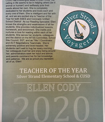 Congratulations, Ellen Cody!