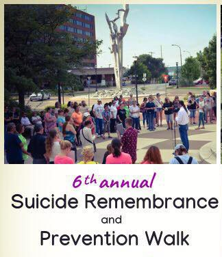Suicide Remembrance and Prevention Walk Banner