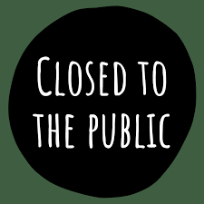 Main Office Closed to the Public