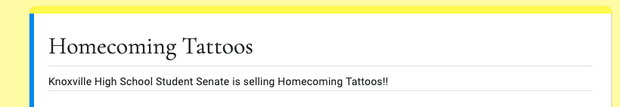Homecoming Tattoos Form