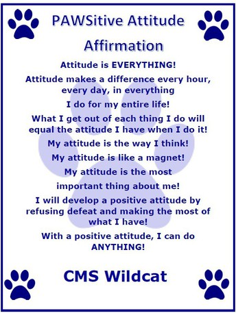 Our PAWSitive Attitude Affirmation is recited every morning