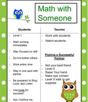 Math with Someone Anchor Chart