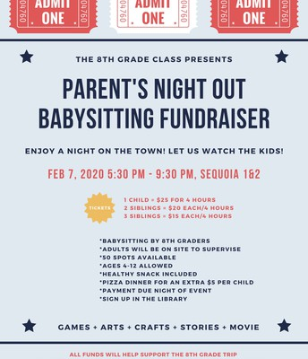 Parent's Night Out Babysitting Fundraiser