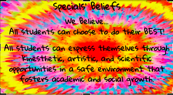What our Specials Teachers believe!