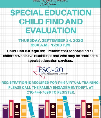 Special Education Child Find and Evaluation