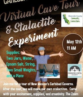 VIRTUAL Community Connections Cave Tour & Stalactite Experiment!
