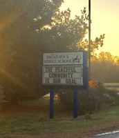 Sign at Broad Rock Middle School in South Kingstown